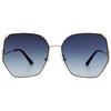 HORIEN 潮流時尚貓眼框墨鏡 氣質藍