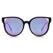 Helen Keller 復古派迷幻雙圈貓眼框-神秘女神 寶石紫