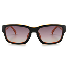 MINI 偏光太陽眼鏡 粗框方格長方框│黑間橘