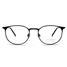 CHARMANT β-鈦 細語橢圓框 ▏黑銀/黑