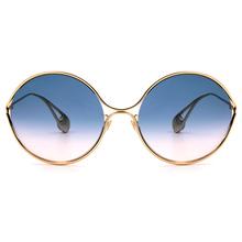GUCCI 2018春夏新款 設計師金色珠徽廣告款-金屬圓框✦漸層色