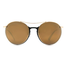 BOLON 新復古潮流雙橋圓框  ▏香檳金棕/黑