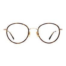 a/p lab▼時尚設計橢圓框眼鏡 玳瑁金