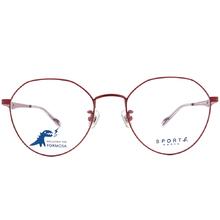 SPORT b.│鋸齒星星氣質波士頓框眼鏡★金屬紅
