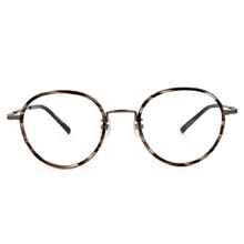 Selecta|質感套圈波士頓框眼鏡|深摩卡
