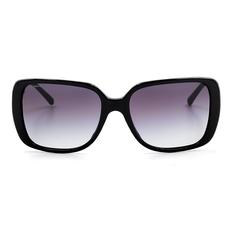 BURBERRY 經典格紋時尚大方框 亮黑色/漸變灰 (BE4198F-30018G)