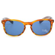BURBERRY 亮眼混搭時尚款  琥珀牛角/深藍鏡片(BE4214F-355080)