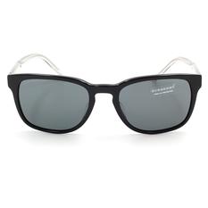 BURBERRY 時尚金蔥透明鏡腳  黑色/灰鏡片 (BE4222F-300187)