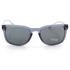BURBERRY 時尚金蔥透明鏡腳 暗透藍/灰鏡片 (BE4222F-301387)