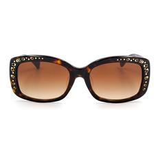 COACH 時尚金屬芯心金鑲雙C方框 炫彩棕  (8161F-512013)