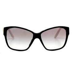 VERSACE 古典時尚貓眼款 黑框豹紋腳(VE4277A-GB1/11)