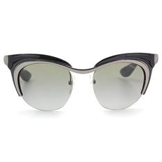 PRADA 前衛多層次眉型貓眼半框 幻影黑 (PR61OS-5AV3M1)