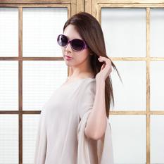 HORIEN 甜美圖騰都會時尚框 甜心紫 (HN1215-H05)
