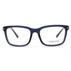 VERSACE 經典圖騰金屬邊雅緻框 流域藍 (VE3210A-5111-55)