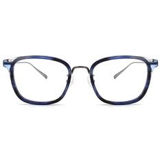 agnès b. 海洋流域 纖細工業感框 ▏玳瑁藍/亮槍(40001-C03-50)