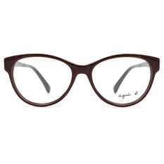 agnès b. 濃情愛戀 心型微貓眼框 ▏亮深紅/黑(ABP-234-X21)