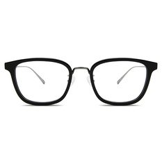 agnès b. 夜黑風雲 纖細工業感框 ▏亮黑/亮槍(40001-C01-50)