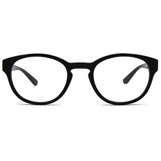 agnès b. 青澀燭光復古波士頓框 ▏亮黑(60007-C01-50)