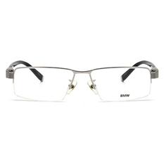 BMW 輕鈦光學眼鏡 標誌磚 ▏銀/黑