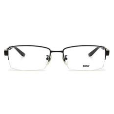 BMW 輕鈦光學眼鏡 交織 ▏霧黑/亮黑