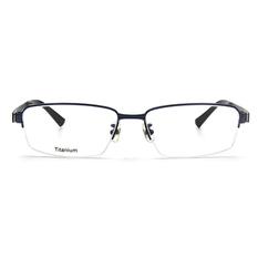 BMW 輕鈦光學眼鏡 復合蓋式 ▏霧藍/亮黑