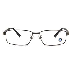 BMW 輕鈦光學眼鏡 鋼碩蓋式 ▏槍/亮黑