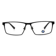 BMW 輕鈦光學眼鏡 簡調水滴 ▏霧黑/亮黑