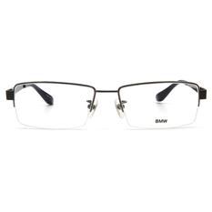 BMW 輕鈦光學眼鏡 細框銀磚 ▏亮槍/藏青