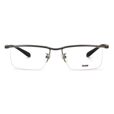 BMW 輕鈦光學眼鏡 無邊境 ▏霧灰/霧黑