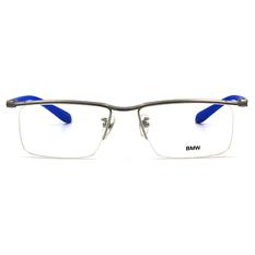 BMW 輕鈦光學眼鏡 無邊境 ▏霧銀/藍