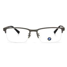 BMW 輕鈦光學眼鏡 微水滴 ▏霧銀/亮黑