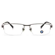 BMW 輕鈦光學眼鏡 雙槓T ▏槍/黑