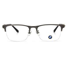 BMW 輕鈦光學眼鏡 漾點時尚 ▏霧銀/亮黑