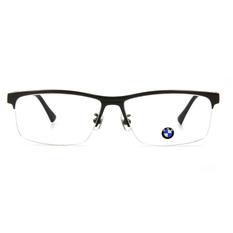 BMW 輕鈦光學眼鏡 質感簡約 ▏霧灰/亮黑