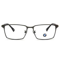 BMW 輕鈦光學眼鏡 細膩雙槓 ▏霧槍/亮黑