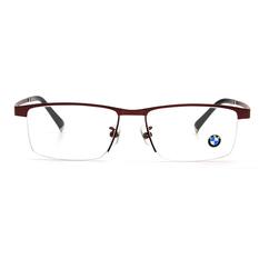 BMW 輕鈦光學眼鏡 魅亮T字 ▏酒紅
