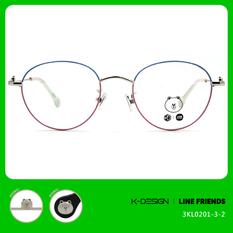 K-DESIGN | LINE FRIENDS◆橢圓框-藍粉/熊大銀(熊大銀鑄)