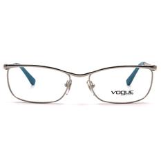 VOGUE 雅緻極簡圓弧眉框 ▏亮銀/水藍