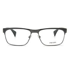 PRADA  中性感鋼質眉框 ▏亮銀/墨綠