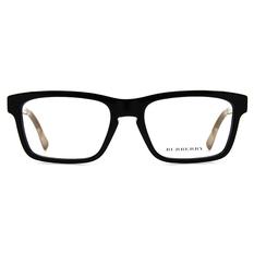 BURBERRY  經典格紋雙色框 ▏亮黑/棕