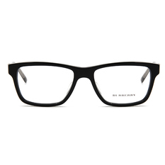 BURBERRY 經典百搭格紋雙色框 ▏亮黑/透灰