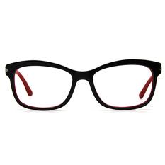 PRADA  經典銀箭雙色框 ▏紅黑紅