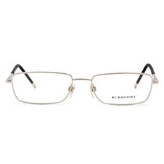 BURBERRY 細緻圓柱雙質框 ▏銀/黑