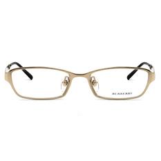BURBERRY 經典橫紋雙甲輕鈦框 ▏亮金/玳瑁棕