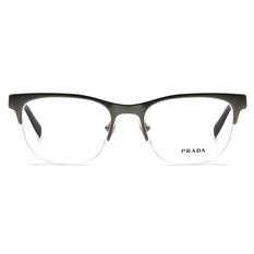 PRADA  簡約線條威靈頓眉框 ▏深銀/亮黑