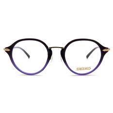 SEIKO 知性の鈦 幾何菱鑽復古圓框 ▏紫藍