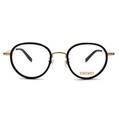 SEIKO 知性の鈦 小菱點刻印復古圓框 ▏金黑