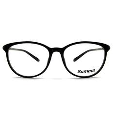 SUMMIT 圓柱風情微貓眼框 ▏亮黑(金柱)