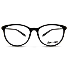 SUMMIT 圓柱風情微貓眼框 ▏亮黑(銀柱)