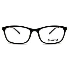 SUMMIT 雙質細邊彈力框眼鏡 ▏霧黑/紅